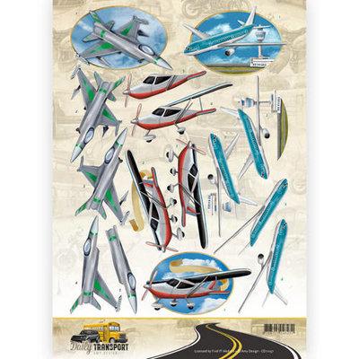 CD11037 3D Knipvel - Amy Design - Daily Transport - Flying High