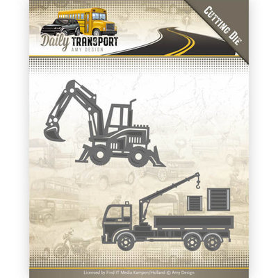 ADD10133 Dies - Amy Design - Daily Transport - Construction Vehicles