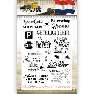 ADCS10036 Clearstamp Text - Amy Design - Daily Transport Nederlands