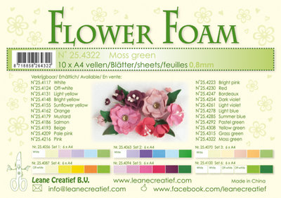 LCR25.4322 Flower foam sheets a4 moss green