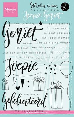 Marianne desgn - Clear Stamp - Geniet Joepie