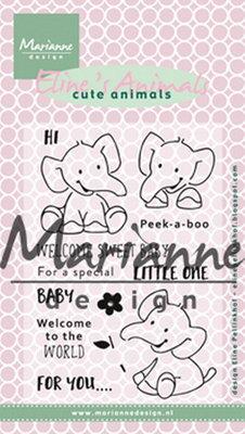 Marianne design, Clear Stamp Eline's elephant EC0168