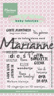 Marianne design, Eline's baby tekstjes EC0171