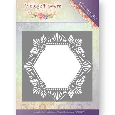 Dies - Jeanine's Art - Vintage Flowers - Floral Hexagon JAD10031