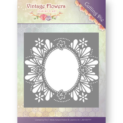Dies - Jeanine's Art - Vintage Flowers - Floral Oval JAD10032