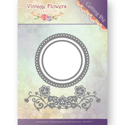 Dies - Jeanine's Art - Vintage Flowers - Flowers and Circles JAD10034