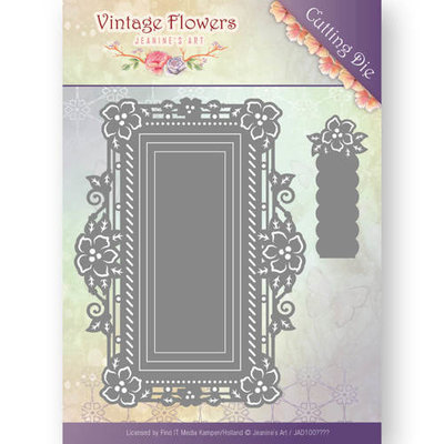 Dies - Jeanine's Art - Vintage Flowers - Floral Rectangle JAD10035