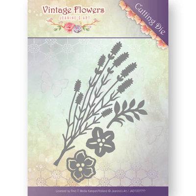 Dies - Jeanine's Art - Vintage Flowers - Vintage Foliage  JAD10037