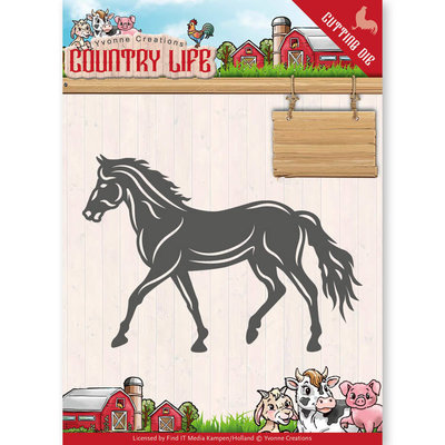 Dies - Yvonne Creations - Country Life Horse  YCD10127