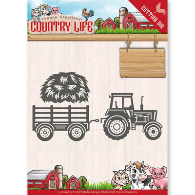 Dies - Yvonne Creations - Country Life Tractor  YCD10124