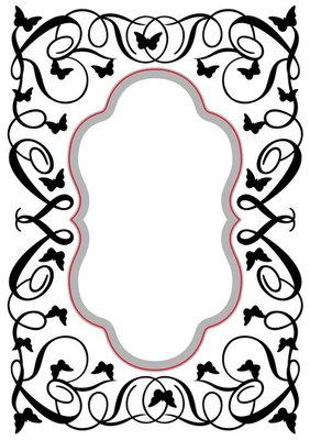 Embossing folder & die cut oval butterfly swirls HSFED006
