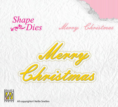 Nellies - Shape Dies - Marry christmas - SD096
