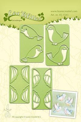LCR45.1543 - Lea bilitie® small Birds snij en embossing mal