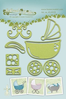 LCR45.0539 Lea bilitie® Baby stroller-cradle-bath snij en embossing mal