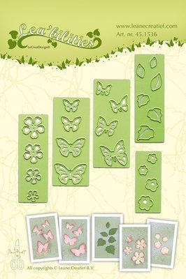 LCR45.1536 Lea bilitie® small Butterflies & Flowers snij en embossing mal