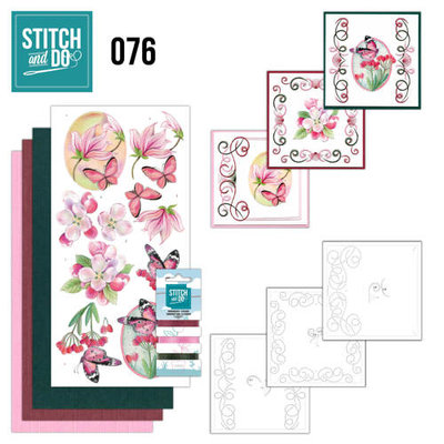 Stitch & do - 76 - Pink Flowers
