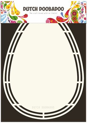 Dutch Doobadoo - Dutch Shape Art - Easter Egg A5