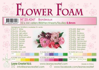 LCR25.4247 Flower foam sheets a4 bordeaux