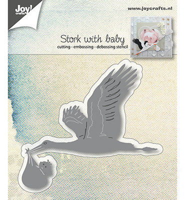 Joy Crafts - Joy! stencil Ooievaar 6002/1015