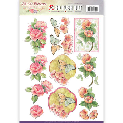 Pushout - Jeanine's Art - Vintage Flowers - Sweetheart Vintage
