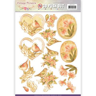 Pushout - Jeanine's Art - Vintage Flowers - Pale Vintage