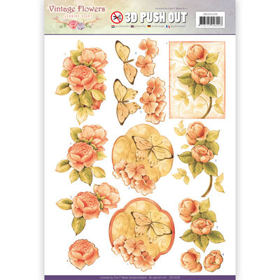Pushout - Jeanine's Art - Vintage Flowers - Sweetheart Vintage 1
