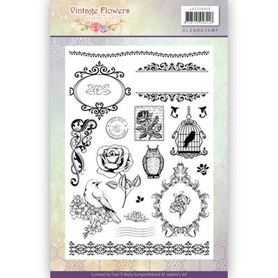 Clearstamp - Jeanine's Art - Vintage Flowers  JACS10013