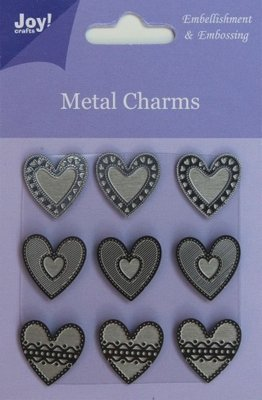 Joy! crafts - Metal Charms - hart - 6350/0104