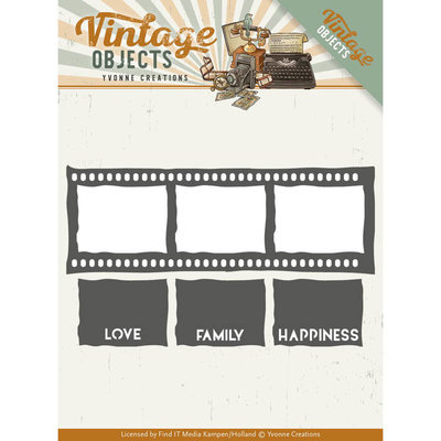 YCD10133 Dies - Yvonne Creations - Vintage Objects - Film Strip