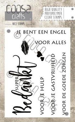 COC-022 COOSA Crafts clearstamps A7 - Bedankt A7 (NL)