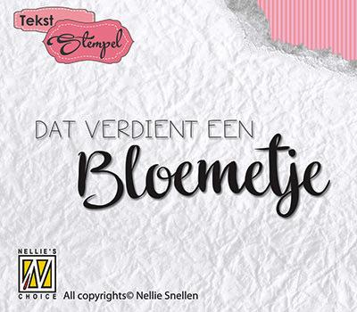 DTCS011 Clear stamp Dutch texts - Dat verdiend een bloemetje
