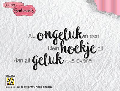 SENCS001 Clear stamp DutchSentiments - Als ongeluk in een klein hoekje