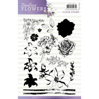 Clearstamp - Precious Marieke - Timeless Flowers PMCS10027