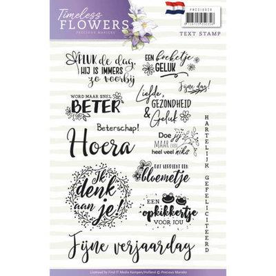 Textstamp - Precious Marieke - Timeless Flowers PMCS10028