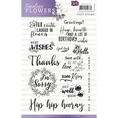 Textstamp - Precious Marieke - Timeless Flowers - Tekst English PMCS10029