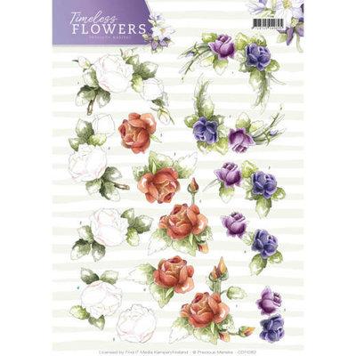 3D Knipvel - Precious Marieke - Timeless Flowers - Roses CD11082
