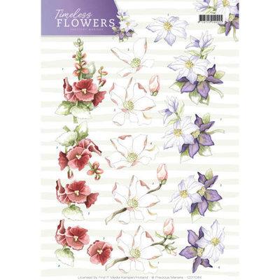 3D Knipvel - Precious Marieke - Timeless Flowers - Garden Flowers CD11084