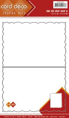 Card Deco Cutting Dies- Fantasy Scallop A5 CDCD10002