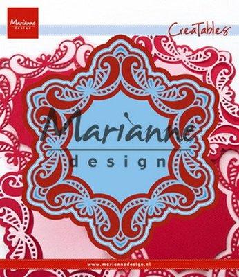 Creatables stencil royal frame LR0530