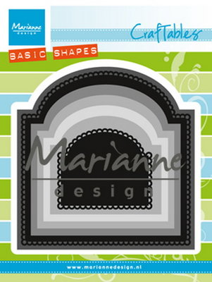Craftables stencil basic arch  CR 1439
