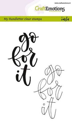 CraftEmotions clearstamps A6 - handletter - go for it (Eng) 130501/1801