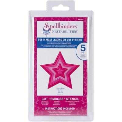 Spellbinders S4- 092 Stars Five