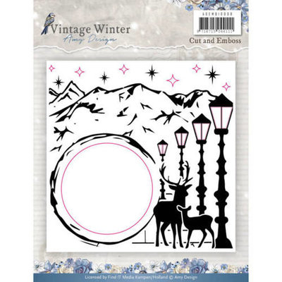 Embossingfolder - Amy Design - Vintage Winter