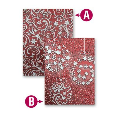 Spellbinders - M-Bossabilities Collection - Christmas - Embossing Folders - Holiday Magic  EL-014