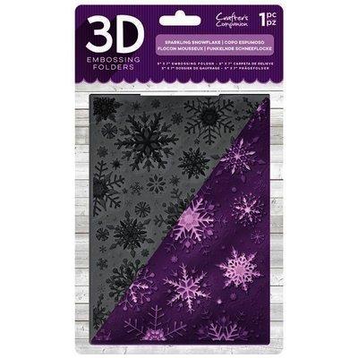 3D Embossing Folder, Sparkling Snowflake