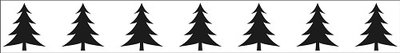 Border embossing folders 150x20mm Xmas trees border