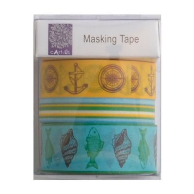 cArt-Us masking tape 3x5m assorted ocean paradise