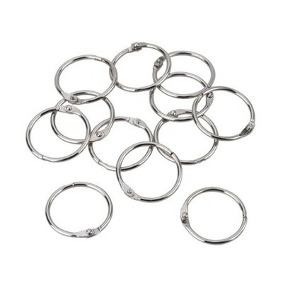 Clasp circle 2mmx30mm x12 zilver