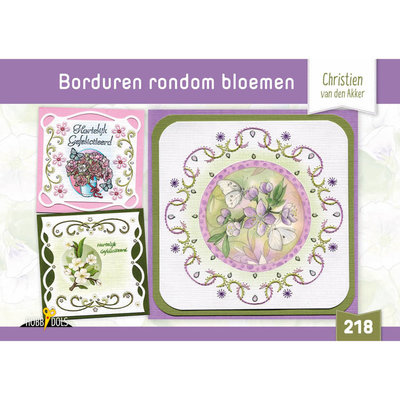 Hobbydols 218 Borduren rondom bloemen - Christien van den Akker HD218
