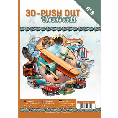 3D Push Out Book - A man's world 3DPO10008